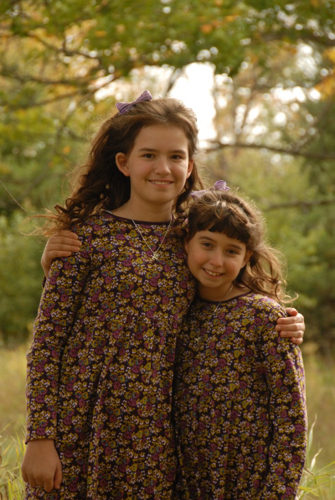 Laura, 11, and Julia, 8