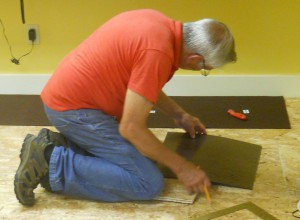Laying the carpet tile