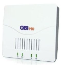 The Obihai Obi110 bridges Google Voice to an actual telephone for incoming and outgoing calls.