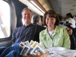 On the Amtrak, Kim and me