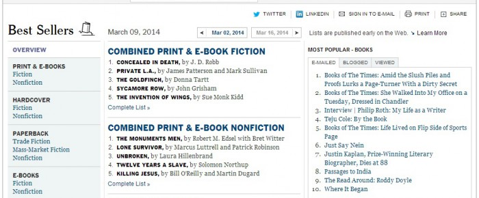 Buy Your Way to the NYT Best-Seller List?